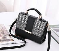 Стильная сумка сундук со вставкой под ткань
