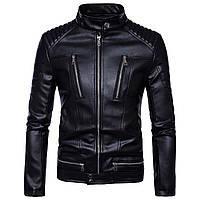 Косуха мужская,куртка кожаная байкерская.Натуральная кожа 3XL.