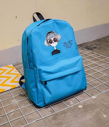 Тканевый рюкзак с принтом