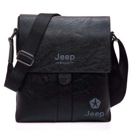 Мужская кожаная сумка барсетка рюкзак через плечо бренд Jeep NEW +ПОД!