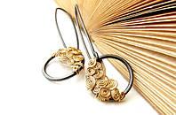 Сережки из серебра и золота от WickerRing
