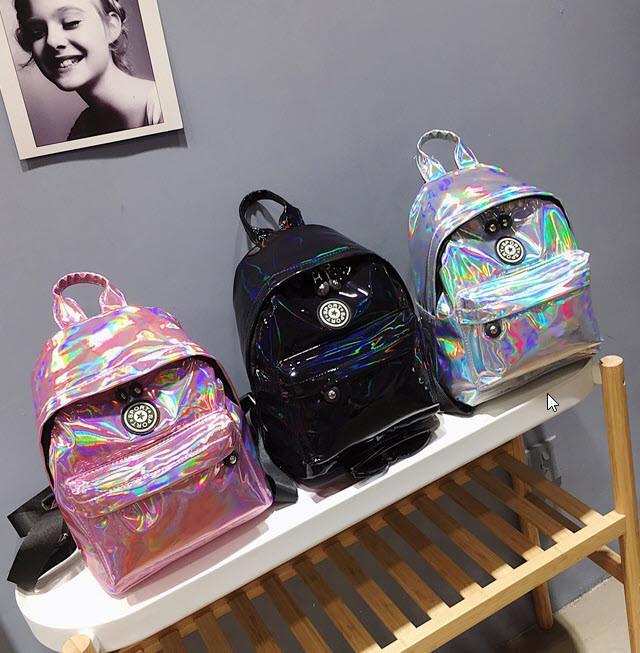 Голографический рюкзак для модных девушек
