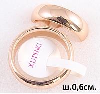 Обручальные кольца классика 6 мм  15,16,17,17,18,19,20,21,22,23 размер, медзолото, медицинское золото