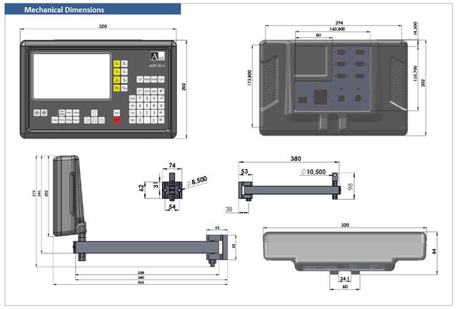 Четырехкоординатное устройство цифровой индикации с графическим цветным дисплеем ADR-50-4