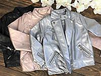 Куртка косуха (кожа) для девочки, фото 1