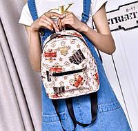 Небольшой городской рюкзак с принтом ромбики