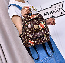 Небольшой городской рюкзак с принтом ромбики, фото 2