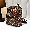 Небольшой городской рюкзак с принтом ромбики, фото 6