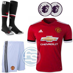 Детский комплект формы Манчестер юнайтед, футболка+шорты+гетры +дополнительно печать инициалов 100 грн