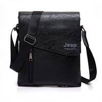a63ed7c5915c Мужская кожаная сумка барсетка рюкзак через плечо бренд Jeep NEW +ПОД!  Черный,