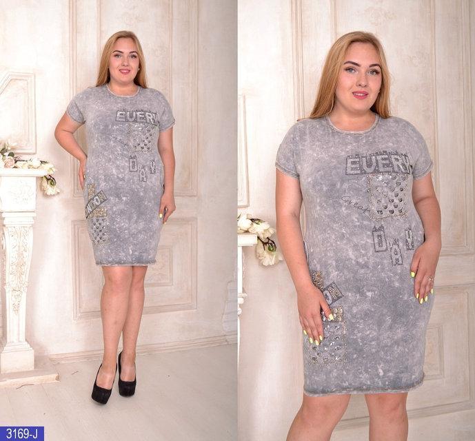 Модное летнее платье коттон варенка Турция большого размера. Р.8-50,52-54