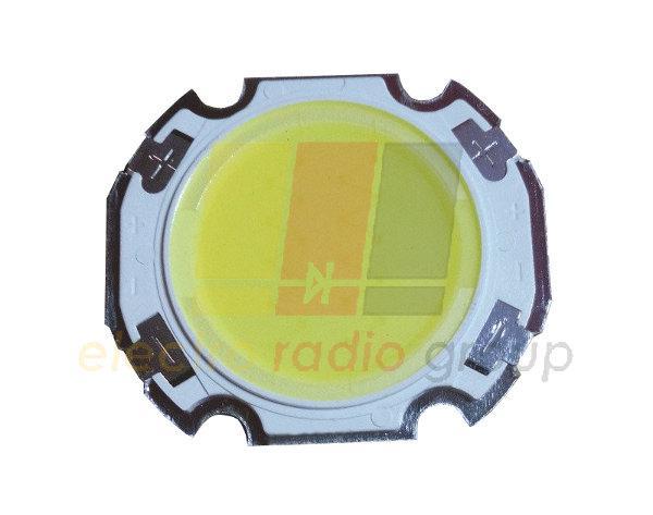 10Вт COB светодиод белый 6000К 90-100лм/Вт 300мА/35В подложка 27x24мм