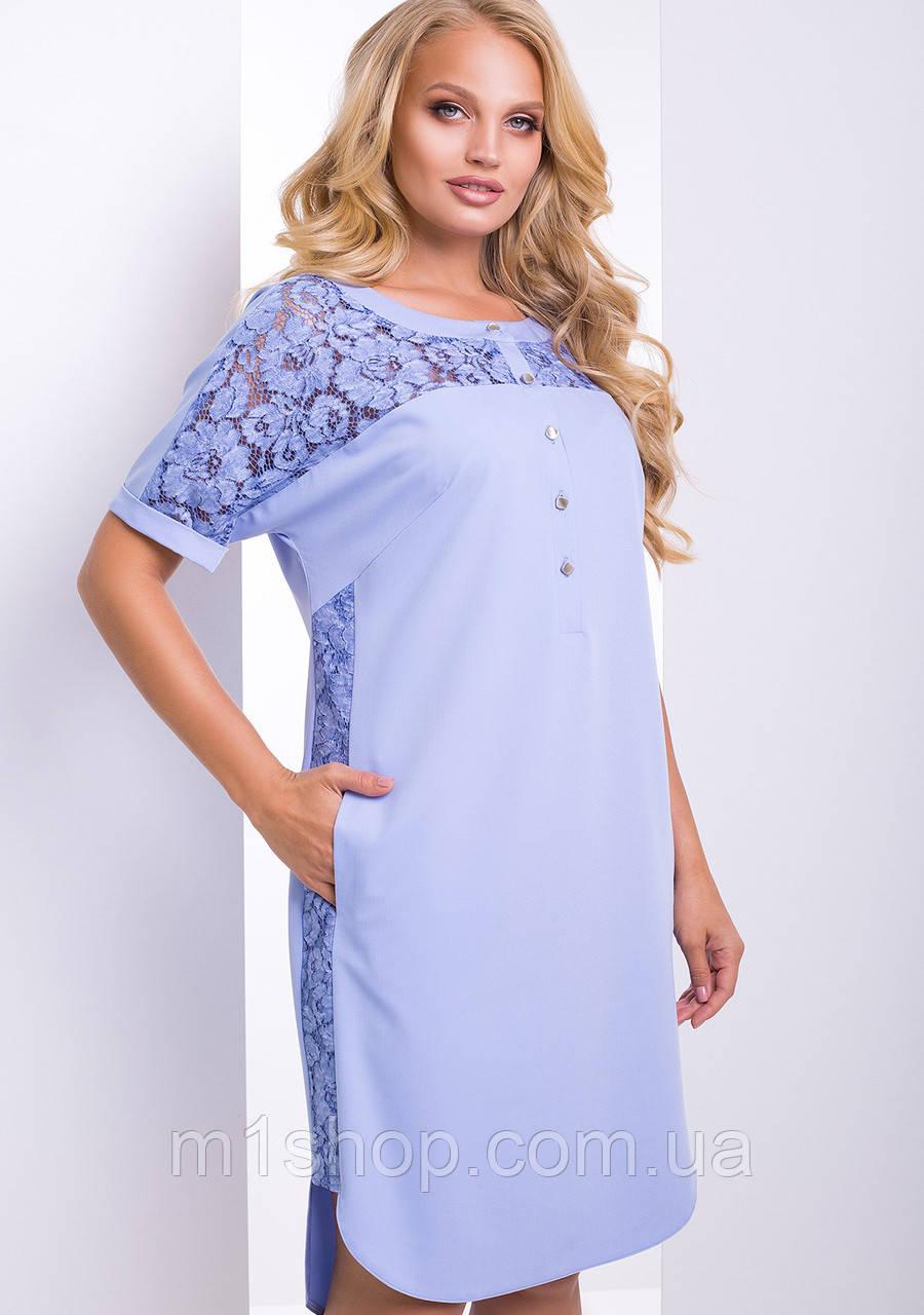 Женское платье с кружевом больших размеров (Донна lzn)