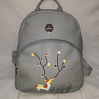 Средний серый женский рюкзак, фото 1