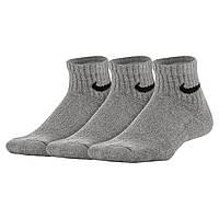 0d5c2dad Комплект детских носков Nike Performance Cushioned Quarter Kids' Training  Socks (S 30-34