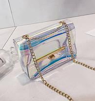 Оригінальна прозора сумка скринька на ланцюжку, фото 2