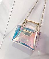 Оригинальная прозрачная сумка с ручками-котиками, фото 3