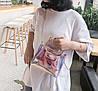 Оригинальная прозрачная сумка с ручками-котиками, фото 4