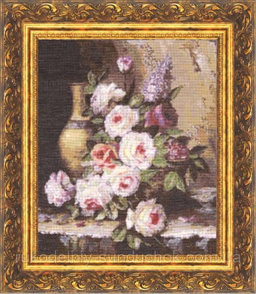 """Набор для вышивания крестом ТМ Золотое Руно """"Мраморные розы. Староголландский натюрморт """" ГН-003"""