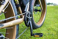 Фэтбайк велосипед елит класса с толстыми колесами LKS FATBIKE Electro Rear Driveна моторе 350 Вт