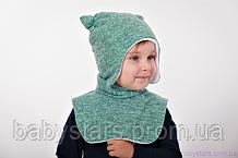 Набор шапочка+манишка Ангора