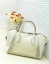 Большая сумка с прозрачной силиконовой вставкой и клатчем, фото 2