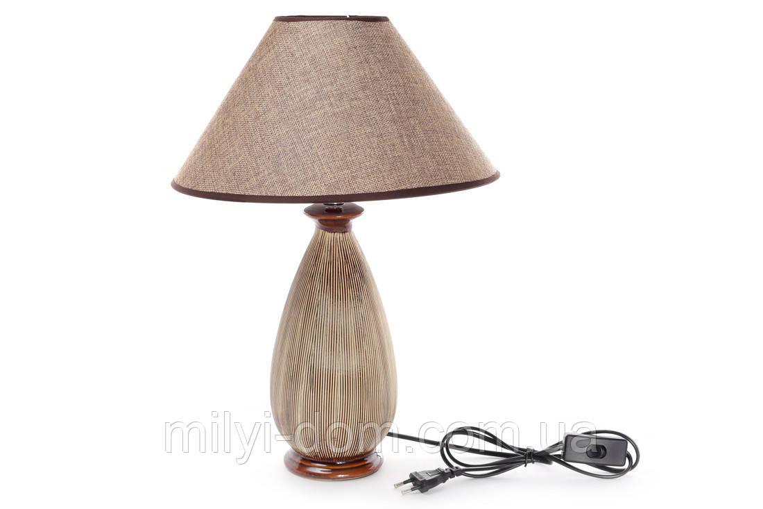 """Настольная лампа с абажуром """"Миссис"""", 41 см."""