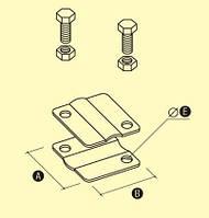 Зажим крестовидный с двумя отверстиями