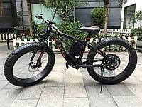 LKS FATBIKE Electro Rear Drive Электрический велосипед на толстых колесах мощность электродвигателя 1000 ВТ Черный