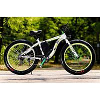 LKS FATBIKE Electro Rear Drive Электрический велосипед на толстых колесах мощность электродвигателя 1000 ВТ Белый