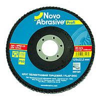 Круг лепестковый торцевой NovoAbrasive Profi P60 125*22,23