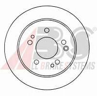 Тормозной диск A.B.S. 15779 на MERCEDES-BENZ 190 седан (W201)