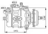 Компрессор, кондиционер NRF 32148 на VW TOUAREG (7LA, 7L6, 7L7)