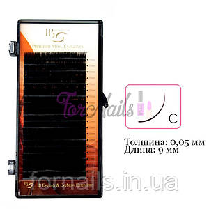 Ресницы I-Beauty на ленте C 0.05 мм, 9 мм