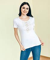 ВФ-002. Жіноча футболка вишиванка