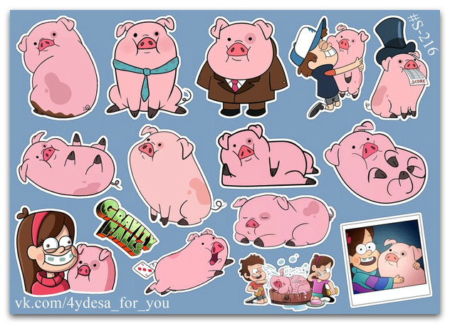 Stickers Pack Gravity Falls, Пухля из Гравити Фолз #216