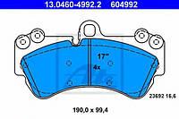 Комплект тормозных колодок, дисковый тормоз VAG 7L0698151H на PORSCHE CAYENNE (955)