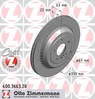 Тормозной диск ZIMMERMANN 400366320 на MERCEDES-BENZ R-CLASS (W251, V251)