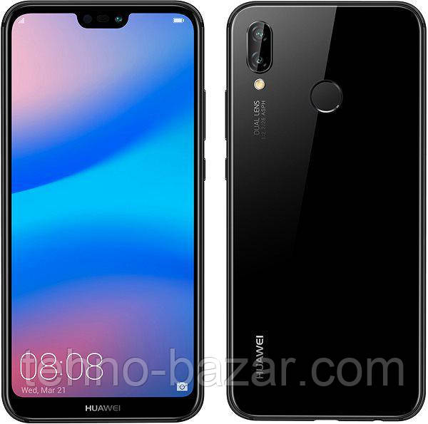 Смартфон Huawei P20 Lite 4/64gb Black Huawei HiSilicon KIRIN 659 3000 мАч