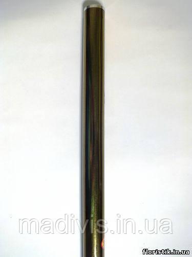 Пленка для декоративной упаковки металлик цвет ХАКИ,  60 см. х 12 м., 30 мкм.
