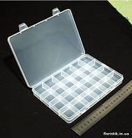 Коробочка для бисера и бусин 24 отдел. (ячейки 3х3 см.)