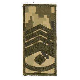 Погон на липучке/муфте нового образца Главный Мастер-сержант (пиксель)
