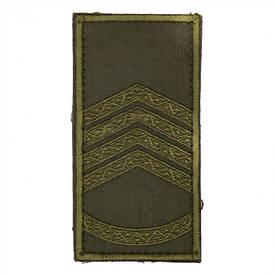 Погон на липучке/муфте нового образца Главный сержант (олива)