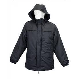 Куртка зимняя с подтежкой Полиция черная