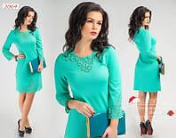 Нарядное молодежное  платье.Цвет -мята- (42-44р)