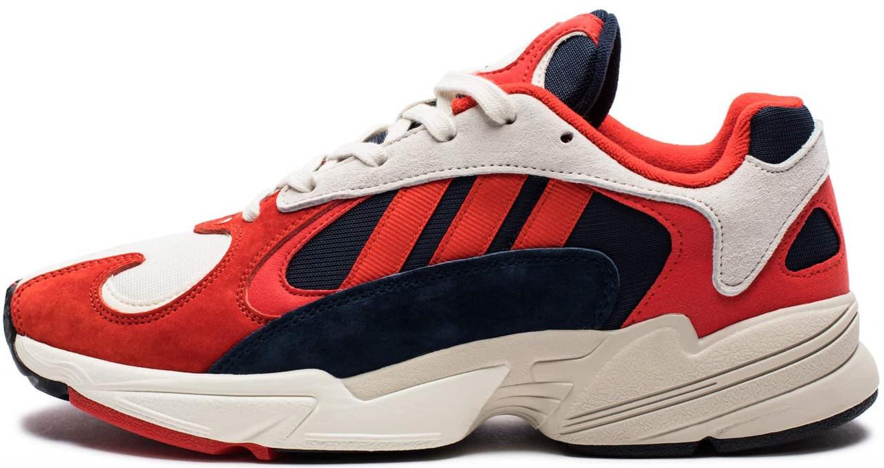 """Мужскиекроссовки adidas Yung-1 """"Red/White"""" (Адидас Янг) красные"""