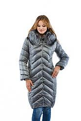 Зимнее женское пальто с мехом в 6ти цветах К-34