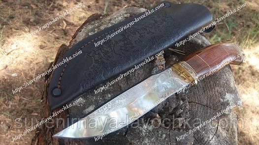 Нож охотничий Волк Подарочный из рисунком производство Украины