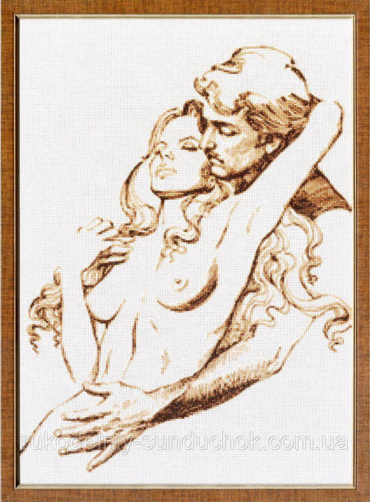 """Набор для вышивания крестом ТМ Золотое Руно """"Дуэт. Графика в тёплых тонах """" ГТ-039"""