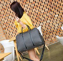 Большая женская сумка в полоску, фото 2